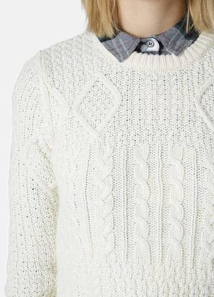 Вязаный свитер в косы5 фото