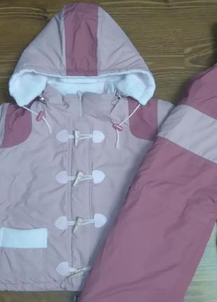 Комплект (курточка и полукомбинезон) на девочку, еврозима, р. 104 - 110