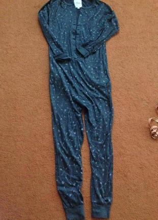 Натуральная пижама с карманами1 фото