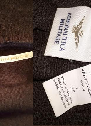 Брендовая кофта свитер aeronautica militare кашемир шёлк + подарок oppi италия4