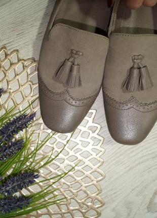 (39/25,5см) roberto santi! замша/кожа! классные туфли, лоферы с кисточками на низком ходу5