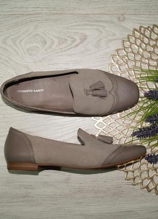 (39/25,5см) roberto santi! замша/кожа! классные туфли, лоферы с кисточками на низком ходу1