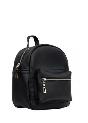 Женский рюкзак маленький чёрный  для прогулок, учебы, города1