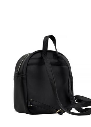 Женский рюкзак маленький чёрный  для прогулок, учебы, города4