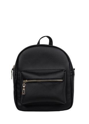 Женский рюкзак маленький чёрный  для прогулок, учебы, города5