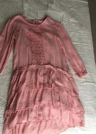 Нежно-розовое платье от zara2