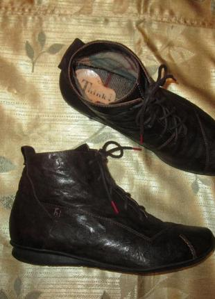 Кожаные ботинки think оригинал ecco mephisto р. 39