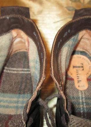 Кожаные ботинки think оригинал ecco mephisto р. 394