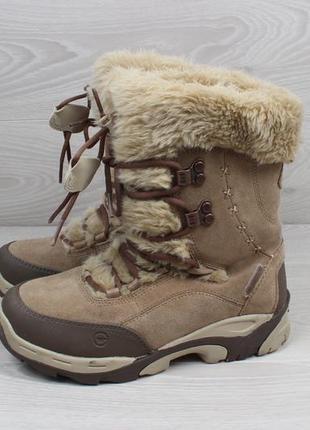 Женские зимние ботинки hi-tec waterproof (с мехом, thinsulate, замшевые)5