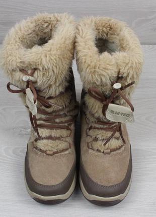 Женские зимние ботинки hi-tec waterproof (с мехом, thinsulate, замшевые)2