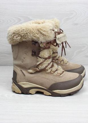 Женские зимние ботинки hi-tec waterproof (с мехом, thinsulate, замшевые)1