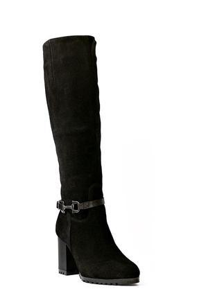 Женские зимние замшевые сапоги.размеры-37 39.черные3