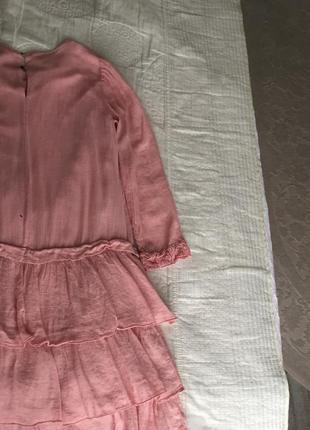 Нежно-розовое платье от zara4