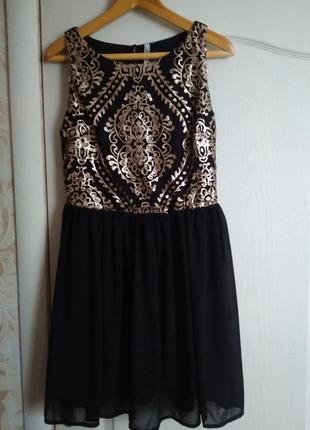 Эффектное нарядное платье с пайетками1