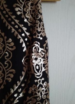Эффектное нарядное платье с пайетками3