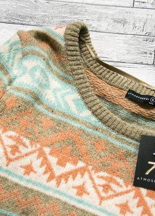 Теплый шерстяной свитер-платье atmosphere2