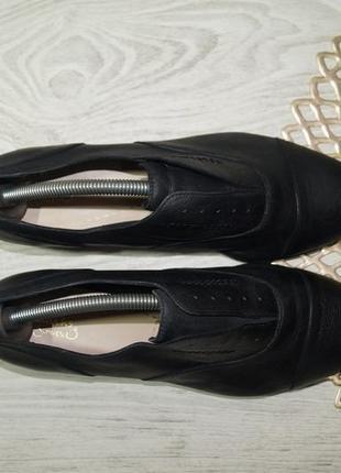 (40/26см) clarks! кожа! классные туфли, оксфорды на низком ходу3