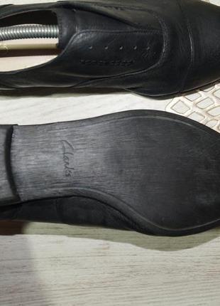 (40/26см) clarks! кожа! классные туфли, оксфорды на низком ходу5