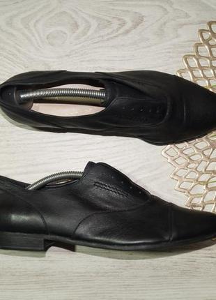 (40/26см) clarks! кожа! классные туфли, оксфорды на низком ходу1