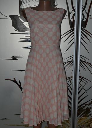 Нежное платье сарафан в горох1