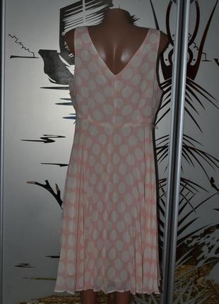 Нежное платье сарафан в горох3
