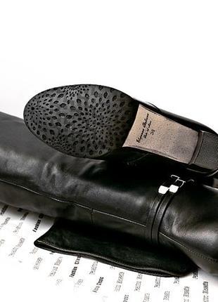Женские зимние ботфорты из натуральной кожи или замши еврозима р. 35 36 37 38 39 40 черные4