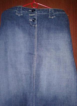 Джинсовая юбка большой размер1 фото