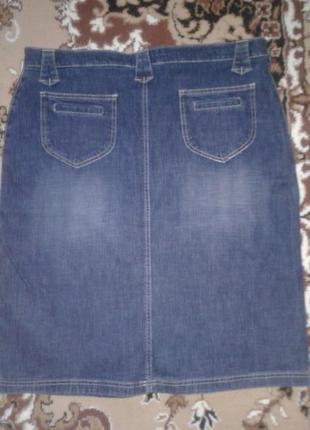 Джинсовая юбка большой размер2 фото