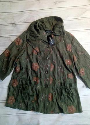 Красивая блузка, легкий пиджак, большой размер 60 размер1