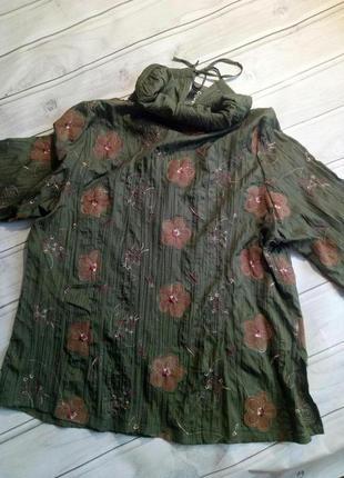 Красивая блузка, легкий пиджак, большой размер 60 размер2