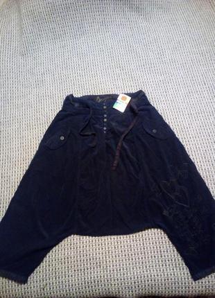 Desigual крутые штаны с мотней для танцев уличные1