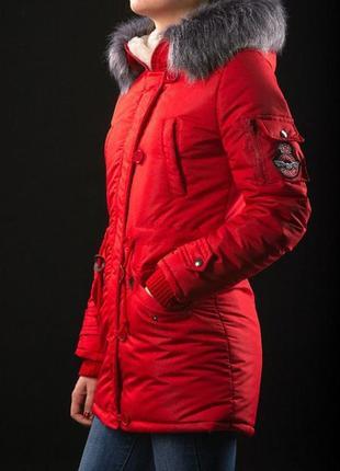 Парка pitt red женская зима