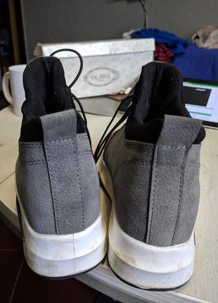 Серые ботинки 37 р. один раз одеты4