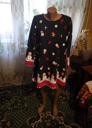 Стильное новогоднее платье туника misslook англия  46-481 фото