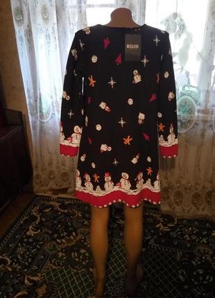 Стильное новогоднее платье туника misslook англия  46-482 фото
