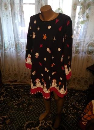 Стильное новогоднее платье туника misslook англия  46-483 фото
