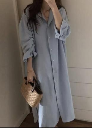Платье-рубашка-тренч
