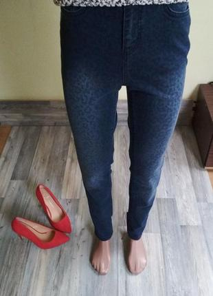 Стильные джинсы скинни с высокой посадкой талией4