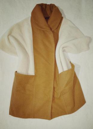 Пончо накидка с карманами жилет безрукавка1 фото