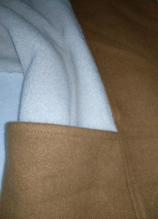 Пончо накидка с карманами жилет безрукавка3 фото