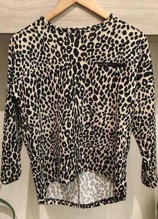 Кофта леопардовая тигровая1