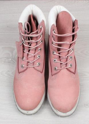 Кожаные женские розовые ботинки timberland оригинал, размер 39 (тимберленд)2 фото