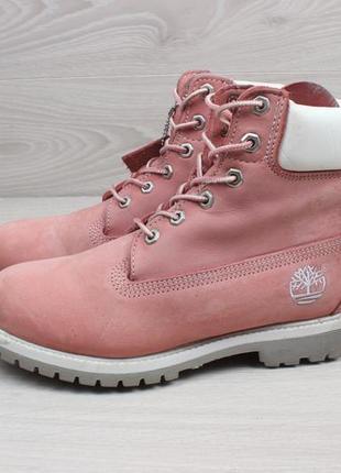 Кожаные женские розовые ботинки timberland оригинал, размер 39 (тимберленд)5 фото