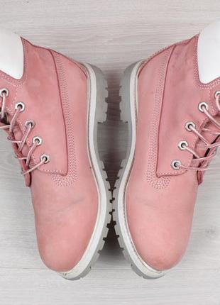 Кожаные женские розовые ботинки timberland оригинал, размер 39 (тимберленд)3 фото