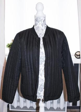 Чёрная куртка\курточка\бомбер от jacqueline de yong (l размера)2