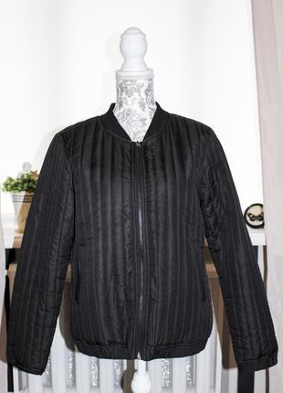 Чёрная куртка\курточка\бомбер от jacqueline de yong (l размера)1