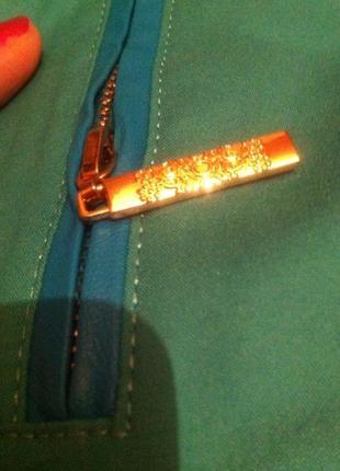 Стильные стрейчевые бирюзовые брюки в стиле etro s-m, 44-46.турция4