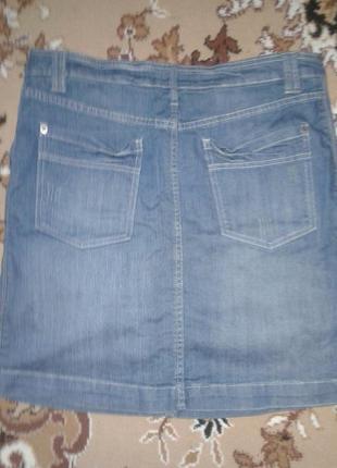 Джинсовая юбка 54 размер2 фото