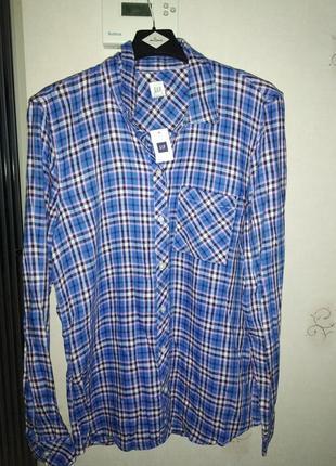 Фланелевая рубашка gap, размер м3 фото
