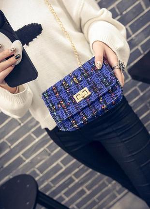 Новая с биркой стильная сумочка - клатчик букле